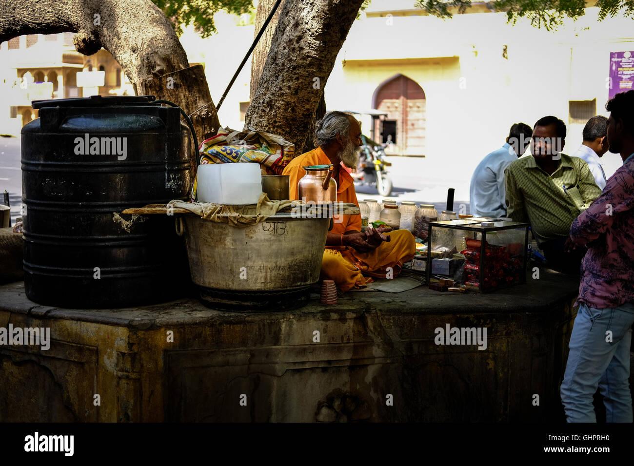 Indian sadhu - Stock Image