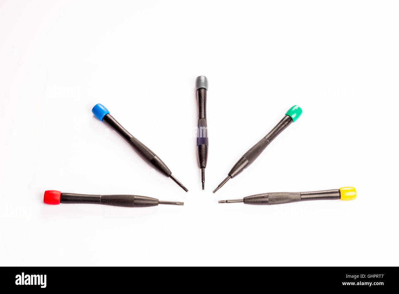 Computer Technician Precision Torx Set on a plain background Stock Photo