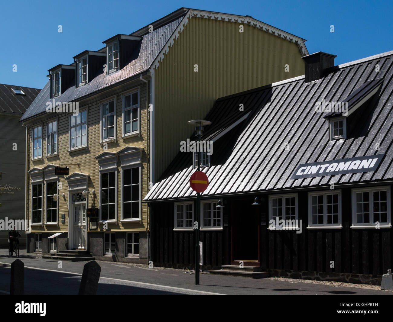Famous Fish Market restaurant in old building on  Aðalstræti Reykjavik historic city centre Iceland' capital city Stock Photo