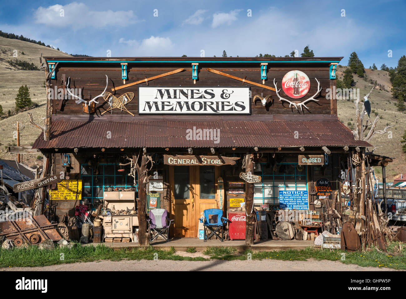 Store on Main Street in Creede, Colorado, USA Stock Photo