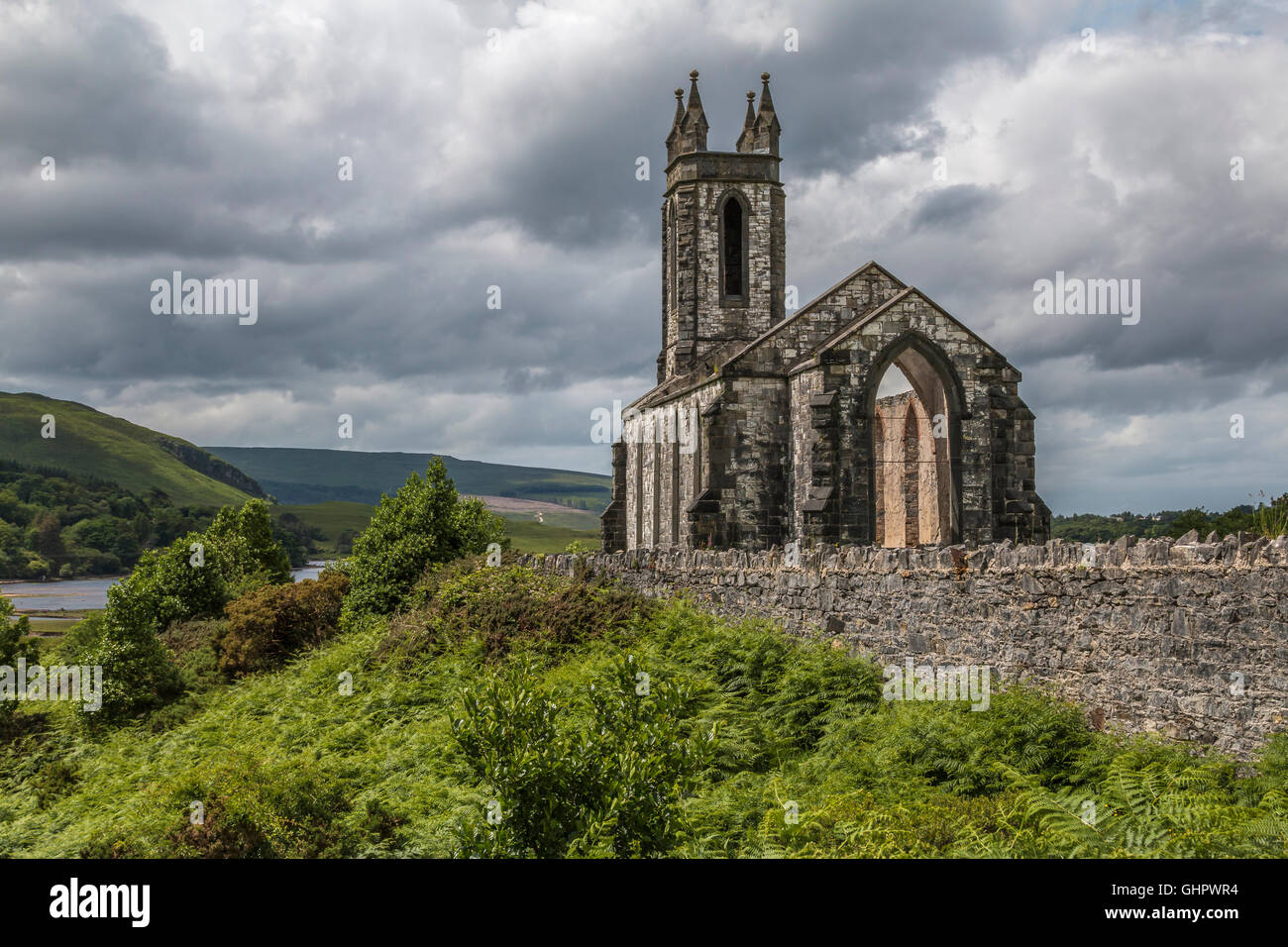 Dunlewey Church Donegal Ireland - Stock Image