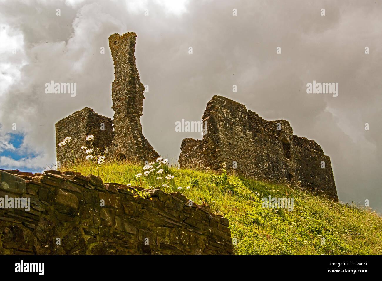 Okehampton castle, Devon. UK. (English Heritage) - Stock Image