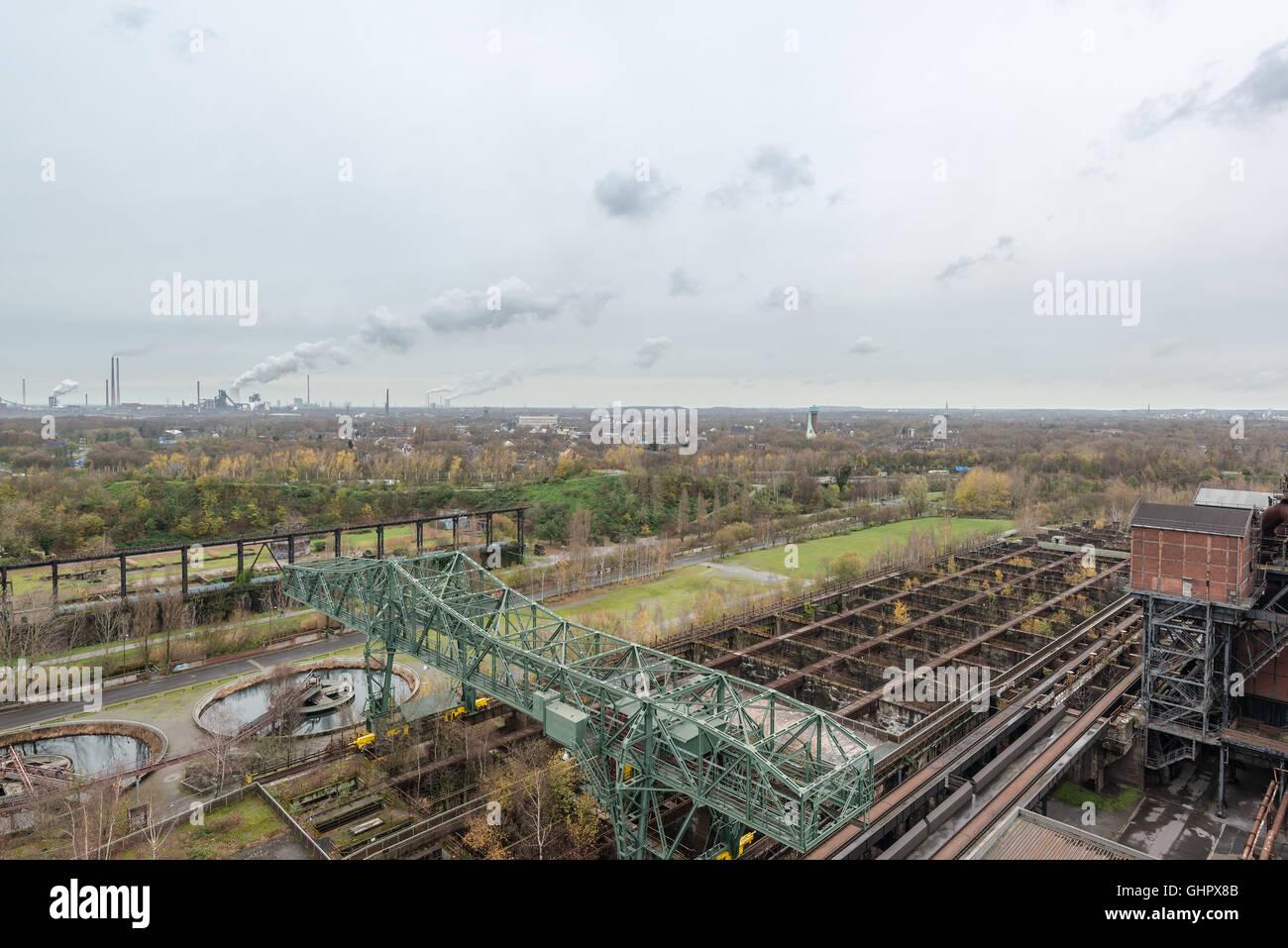 view from landschaftspark duisburg - Stock Image