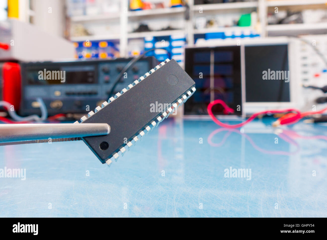 prototype of quantum processor - Stock Image