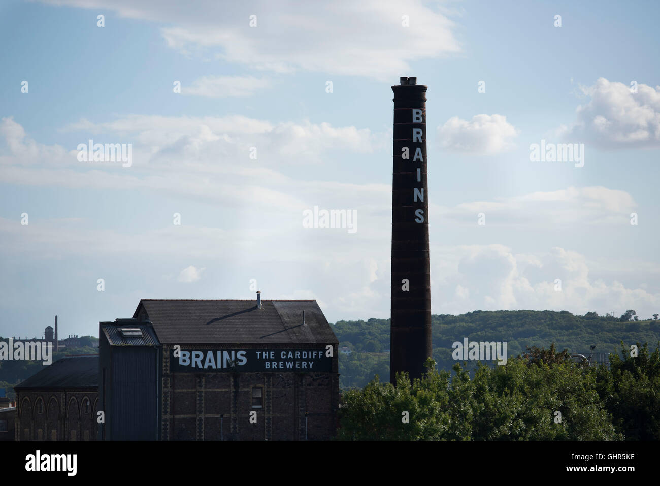 Brains Brewery in Cardiff, south Wales. - Stock Image