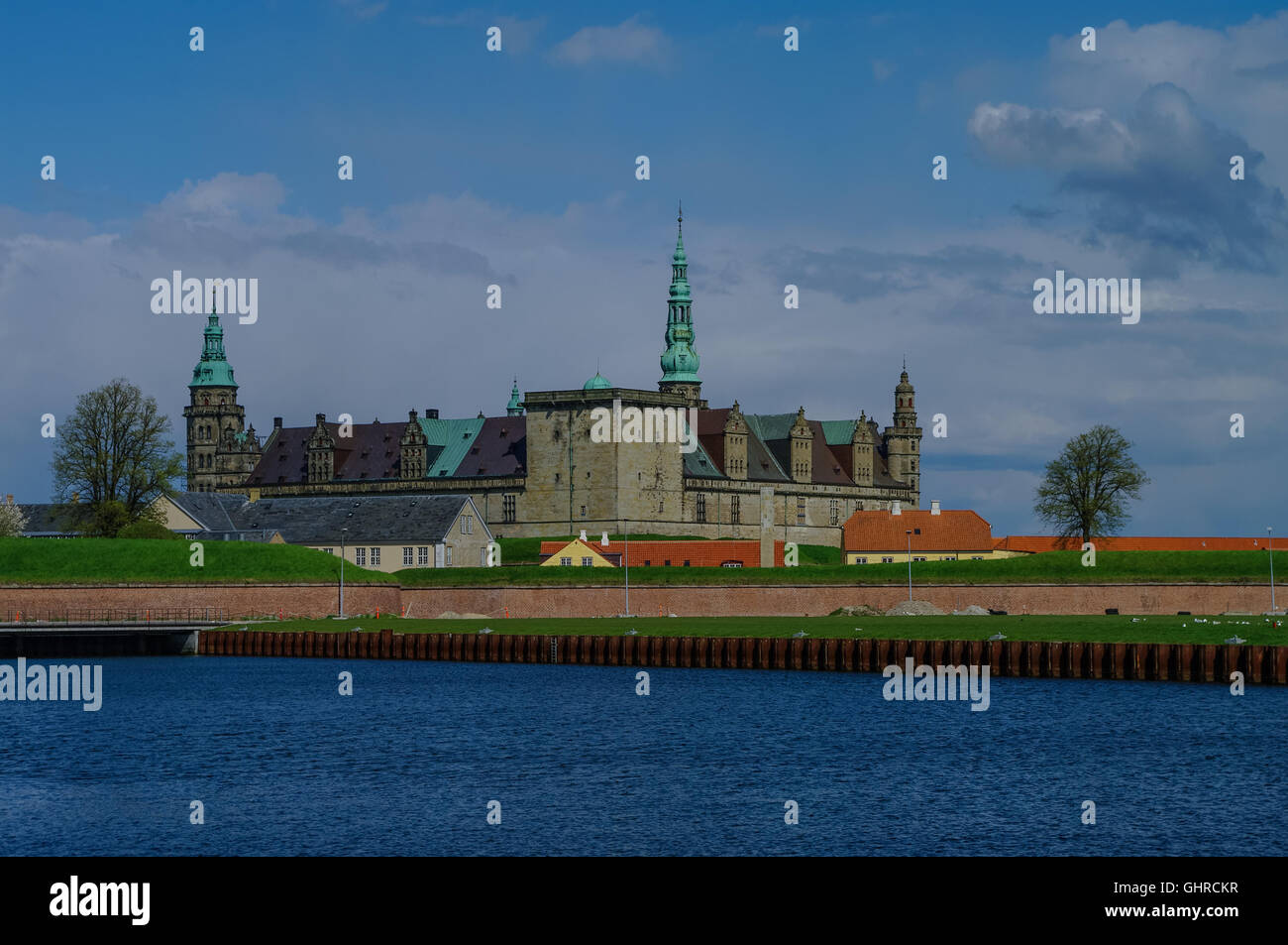 Castle and fortoress of Kronborg, home of Shakespeare's Hamlet. Denmark - Stock Image