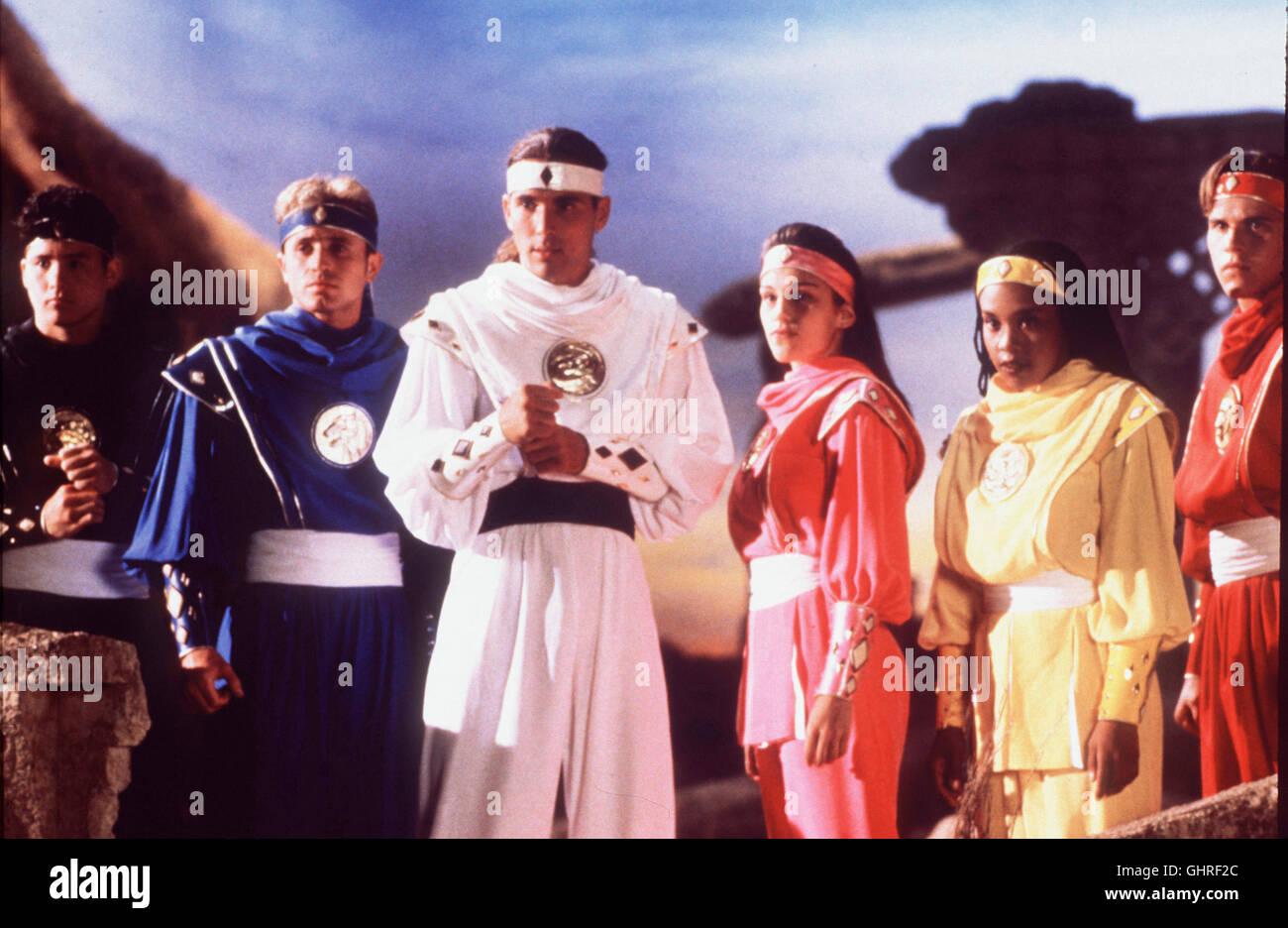 POWER RANGERS - DER FILM - Die 'Power Rangers', das sind sechs Ritter der Gerechtigkeit, die mit hochmodernster - Stock Image