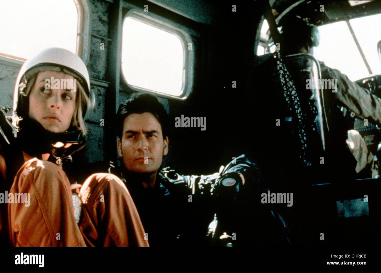 TÖDLICHE GESCHWINDIGKEIT - Die geheimnisvolle Schülerin Chris Morrow(NASTASSJA KINSKI) des Fallschirm - Stock Image