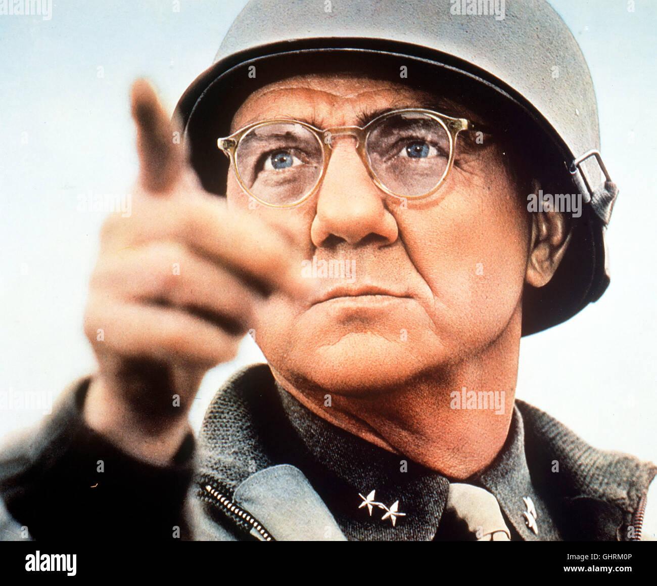 PATTON - REBELL IN UNIFORM - Die Geschichte des Generals Patton, der die 7.US-Armee in Tunesien gegen Rommels Afrika Stock Photo