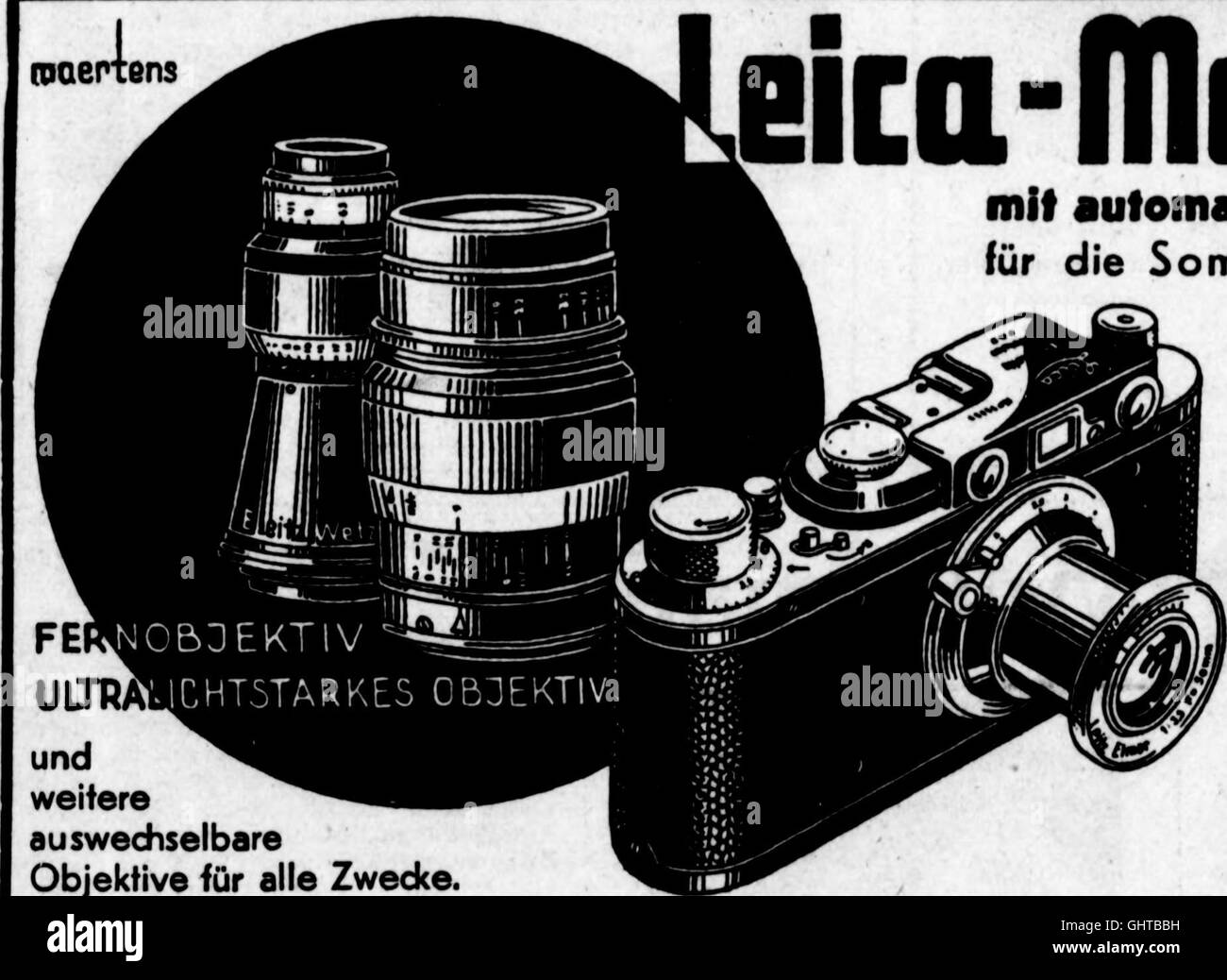 Arthur and Fritz Kahn Collection 1889-1932 Stock Photo