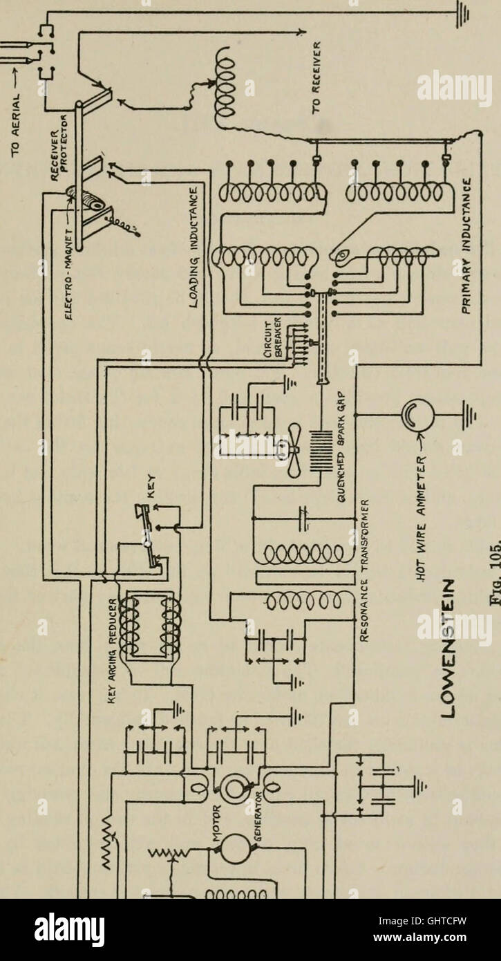 Radio Telegraphy Stock Photos Images Alamy Oliver 1850 Wiring Diagram Free Download Schematic Robisons Manual Of And Telephony For The Use Naval Electricians 1918
