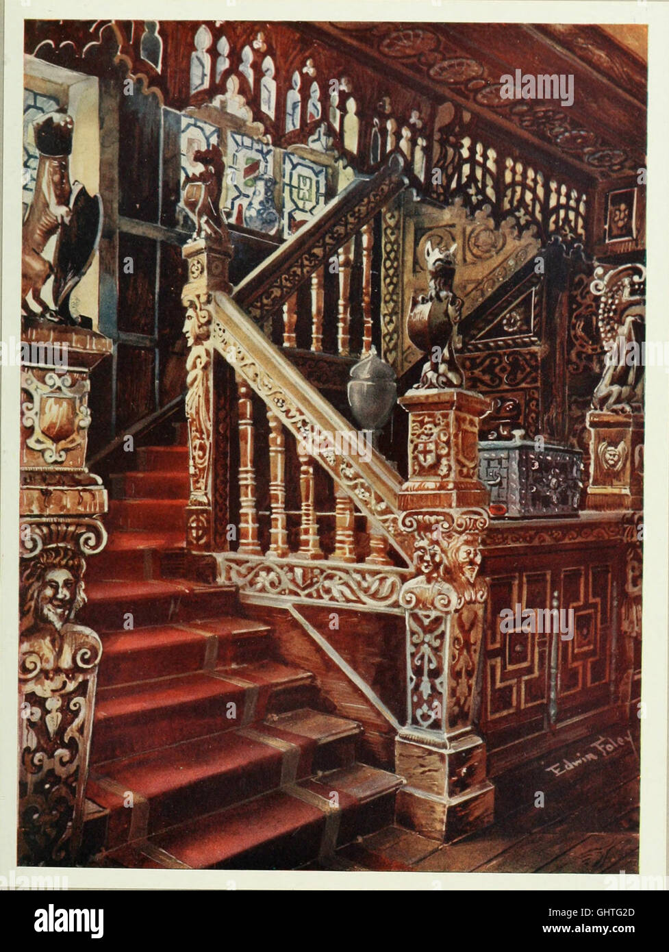 The book of decorative furniture, its form, colour and history (1910) Stock Photo