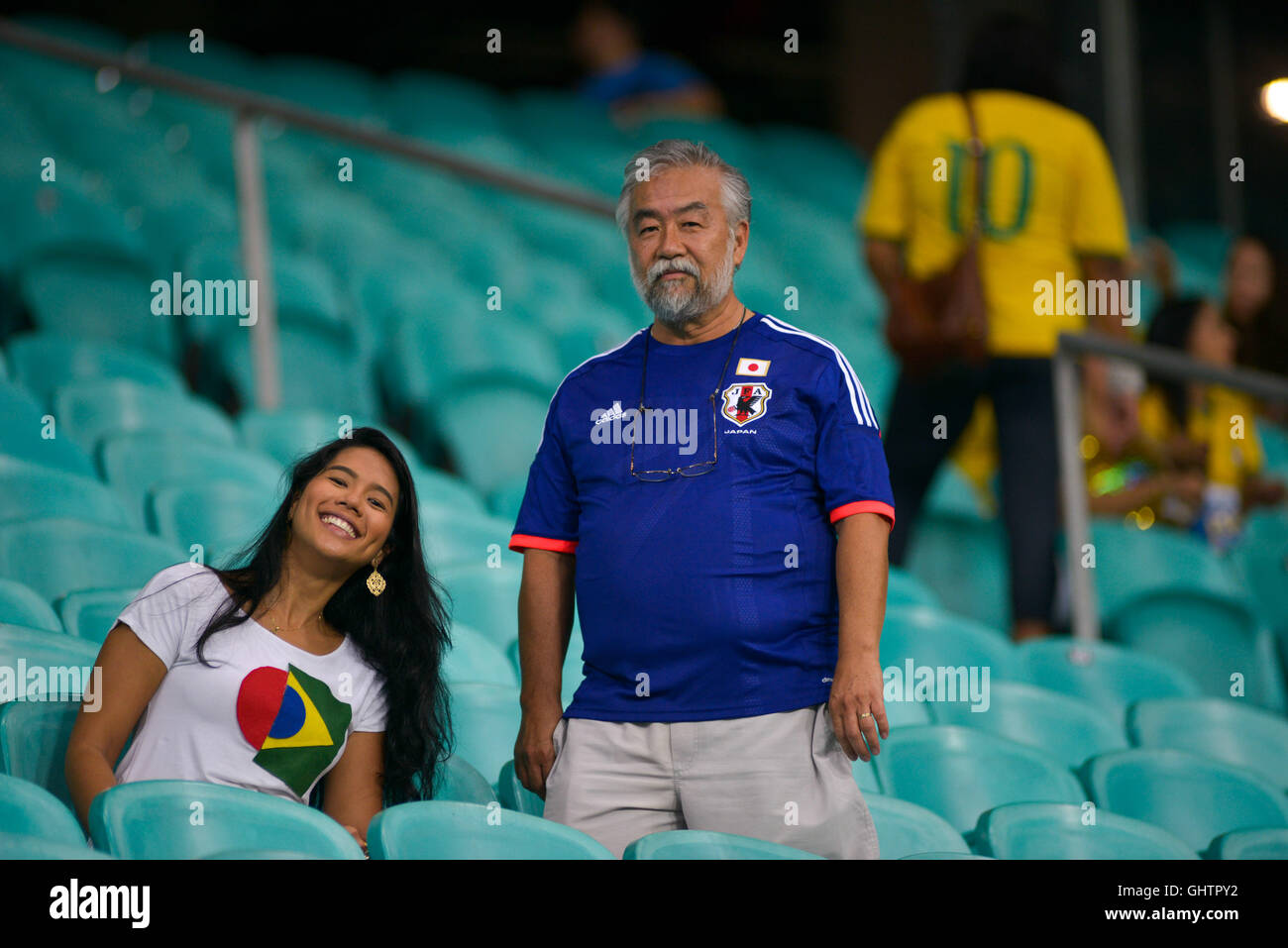 Salvador, Brazil. 10th August, 2016. OLYMPICS 2016 FOOTBALL SALVADOR - Fans arrive for the match between Japan (JPN) Stock Photo