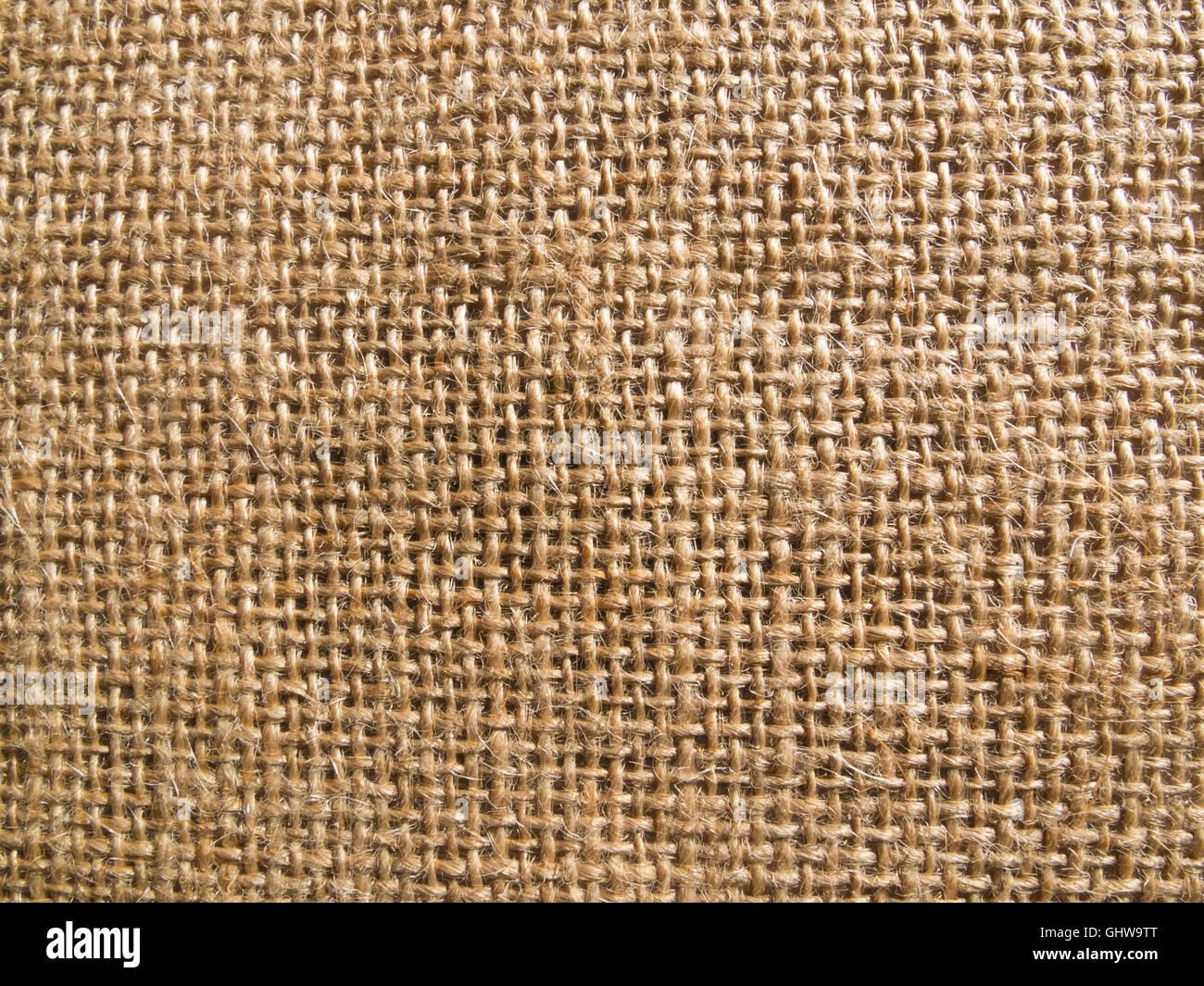 hessian fabric - Stock Image