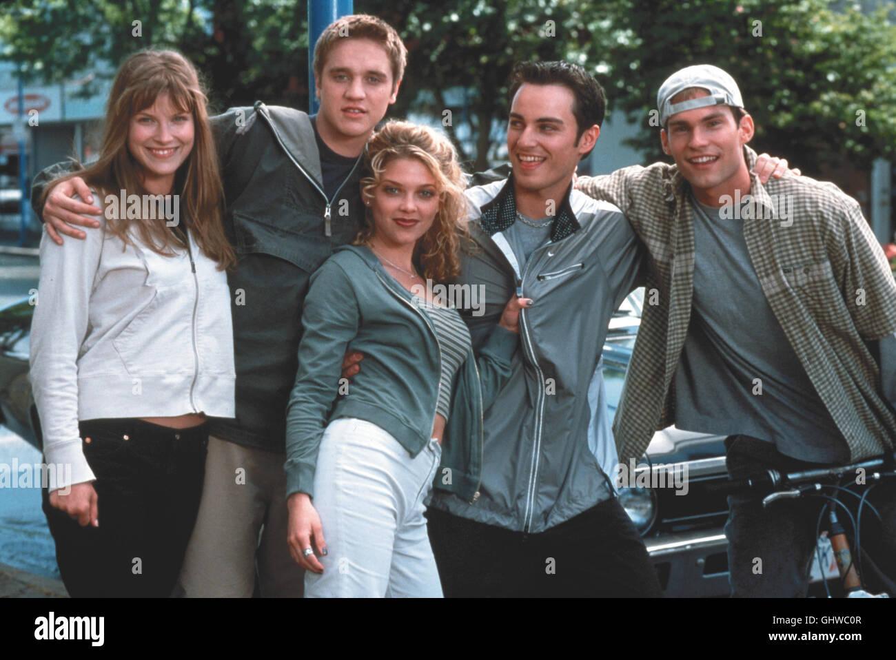 FINAL DESTINATION ALI LARTER als Claire, DEVON SAWA als Alex, AMANDA DETMER als Terry, CAD E. DONELLA als Tod, SEANN - Stock Image