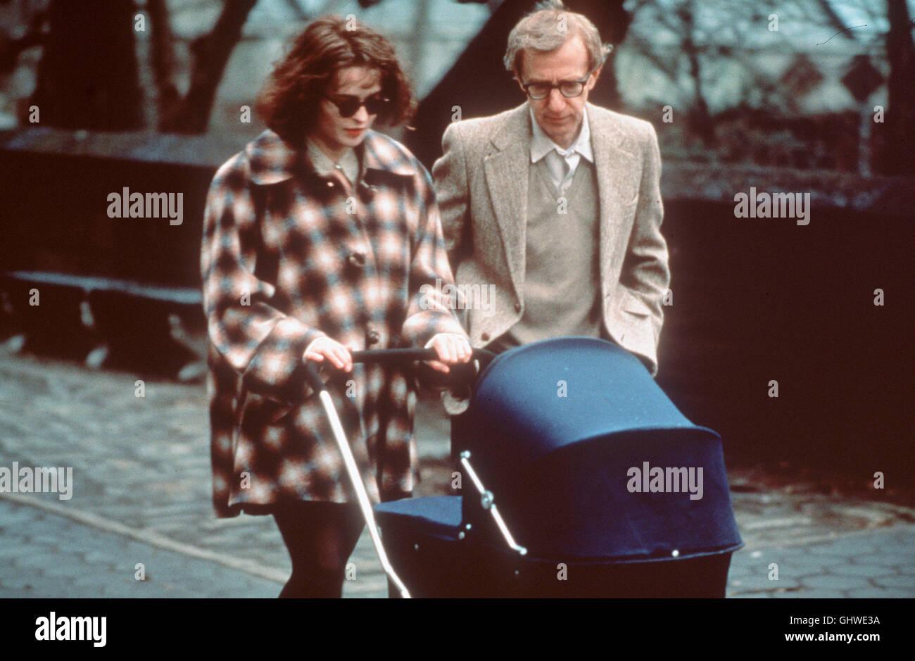 GELIEBTE APHRODITE- Lenny (WOODY ALLEN) als Sportjournalist im Big Apple, verheiratet mit der Galeristin Amanda - Stock Image