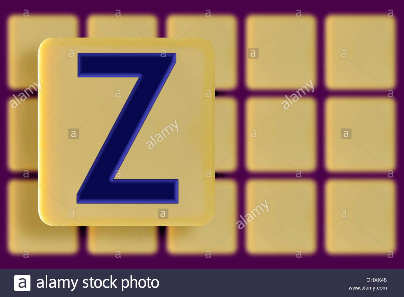 Tile Letter Z Stock Photos Tile Letter Z Stock Images Alamy