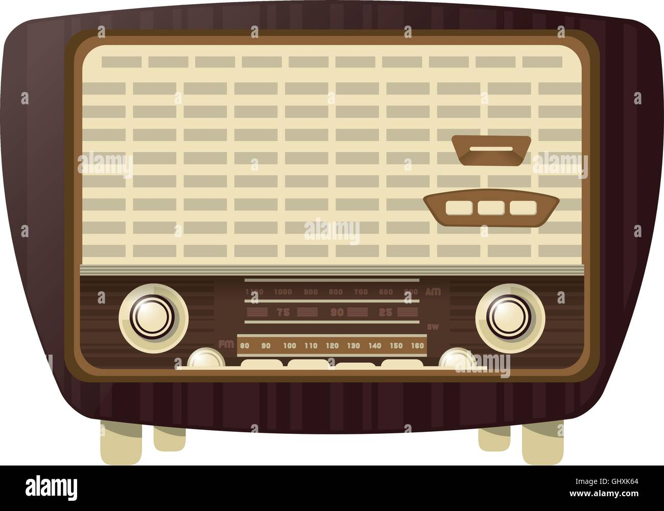 retro radio icon - Stock Image