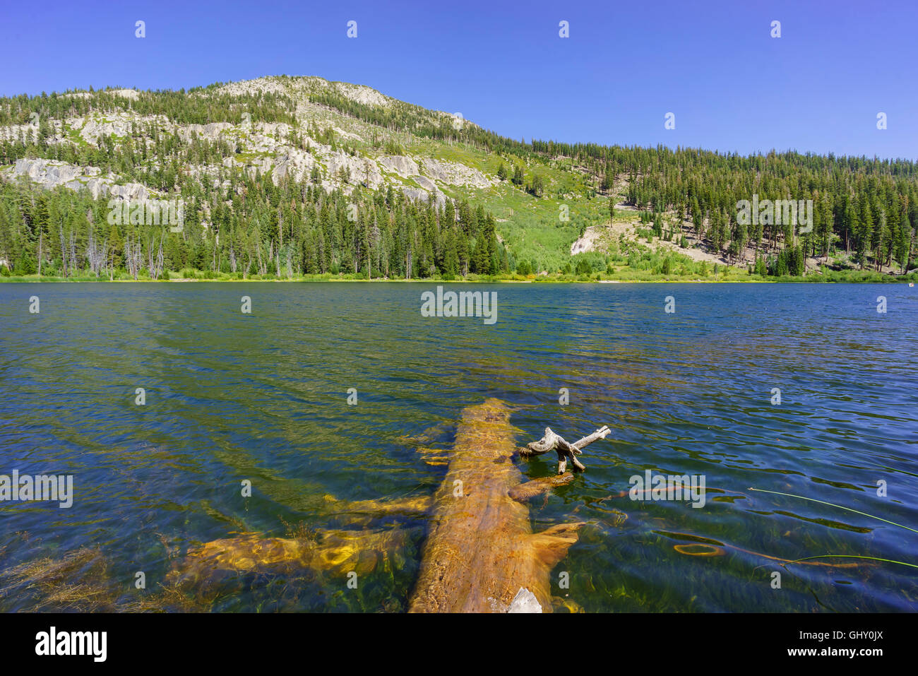The beautiful Sotcher Lake in Devils Postpile National Monument - Stock Image