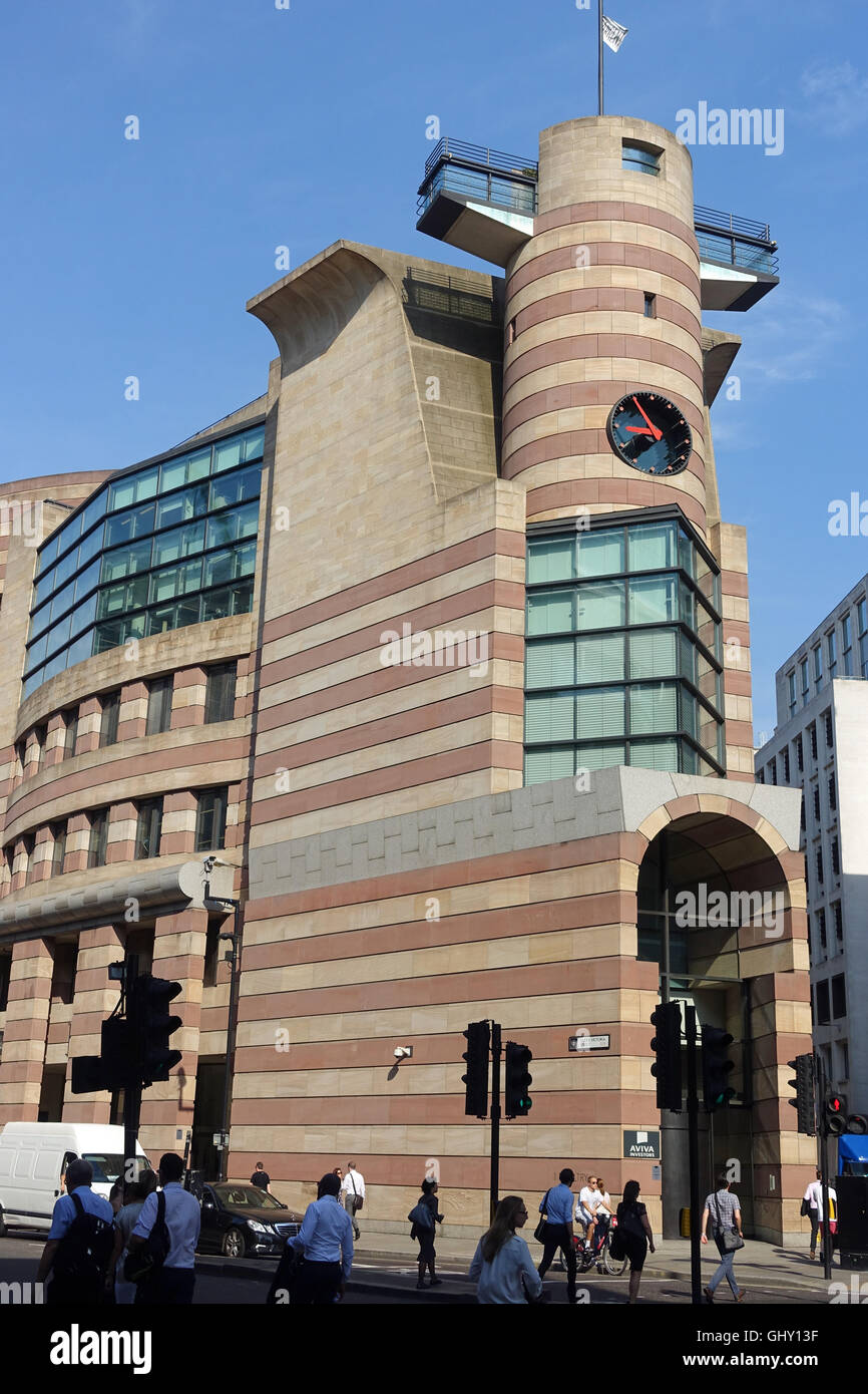 A side view front view of No 1 Poultry in London - Stock Image
