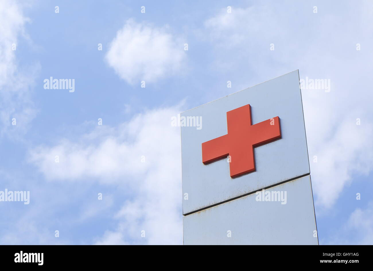 Red cross, humanitarian institution based in Geneva Switherland and a three time Nobel Prize Laureate. - Stock Image