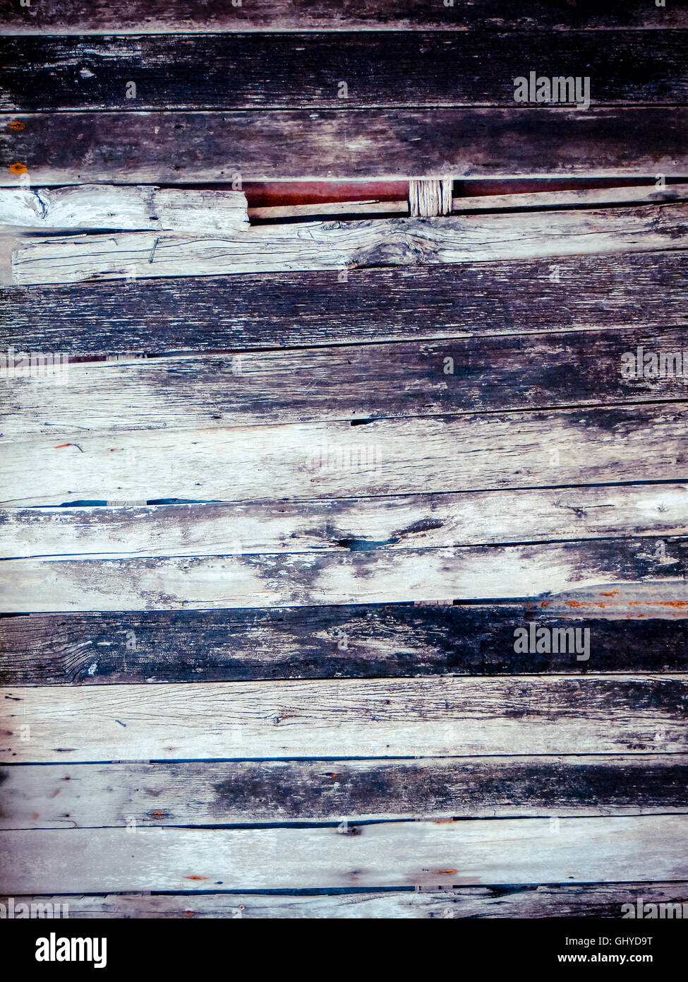 The old wood texture with natural patterns - Stock Image