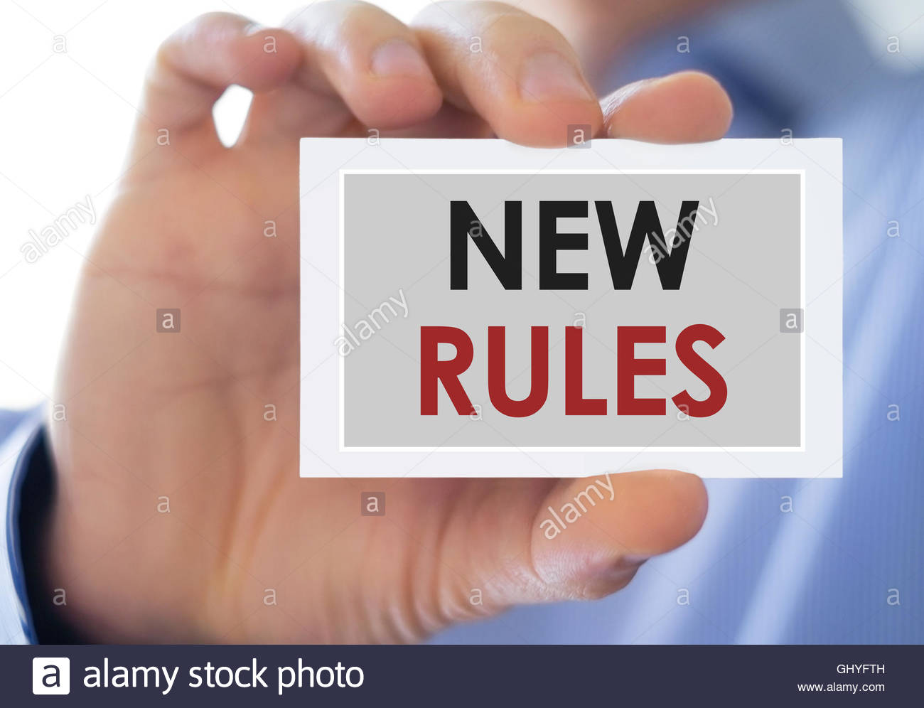 new rules regulations - Stock Image