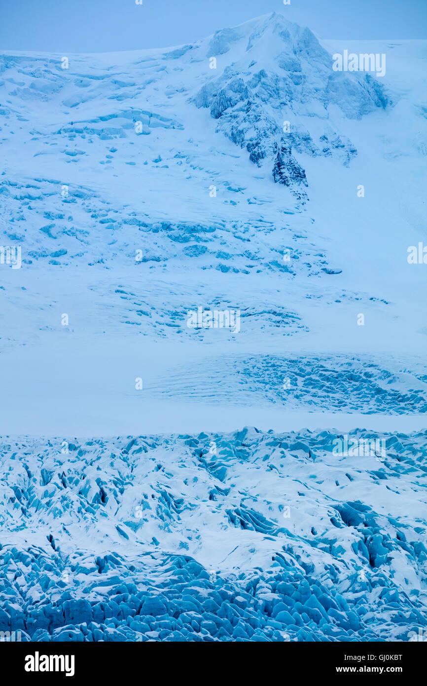 the glacier at Fjallsárlón, eastern Iceland - Stock Image