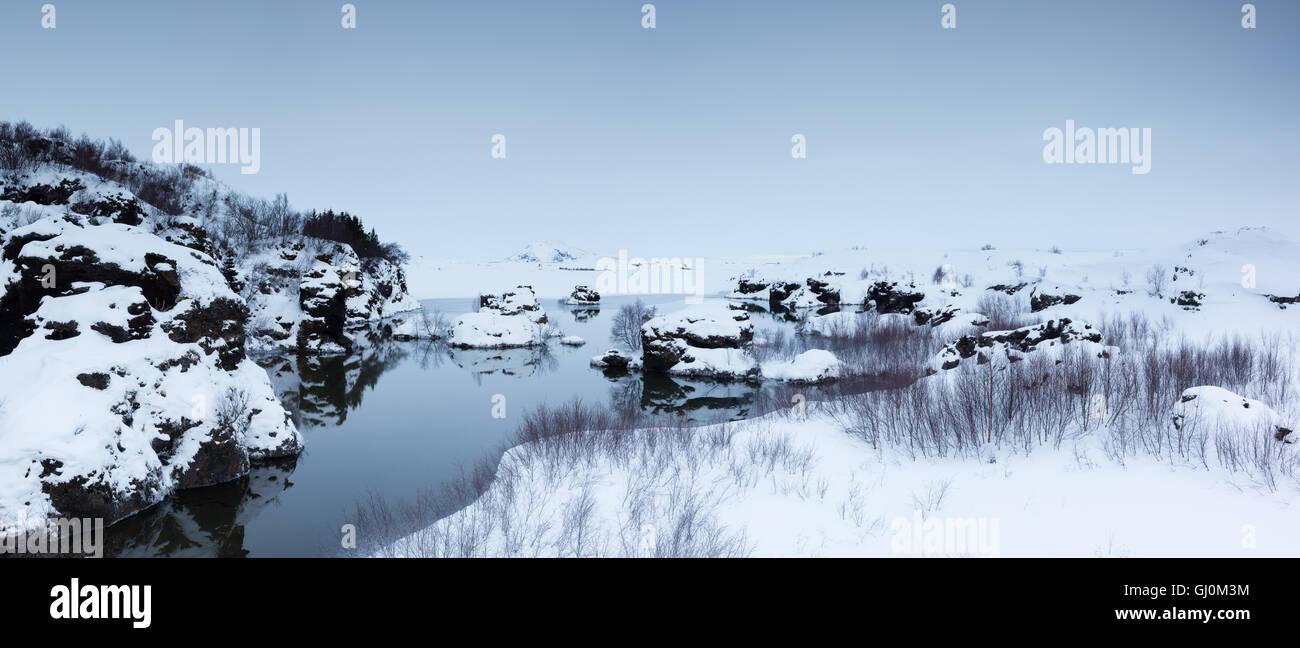 Myvatn, north eastern Iceland - Stock Image