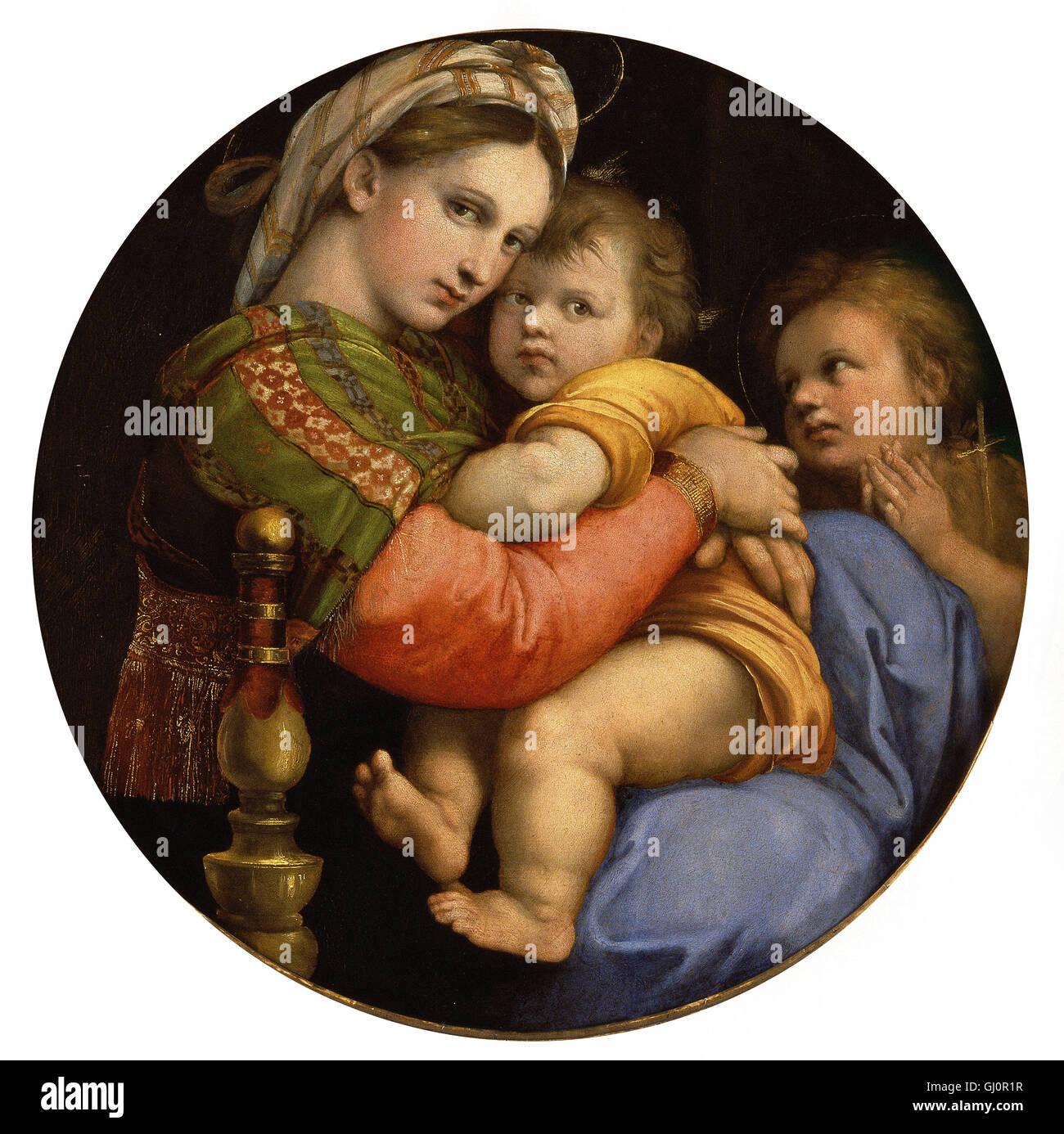 Raffaello Sanzio - Raffaello - Madonna della Seggiola Stock Photo