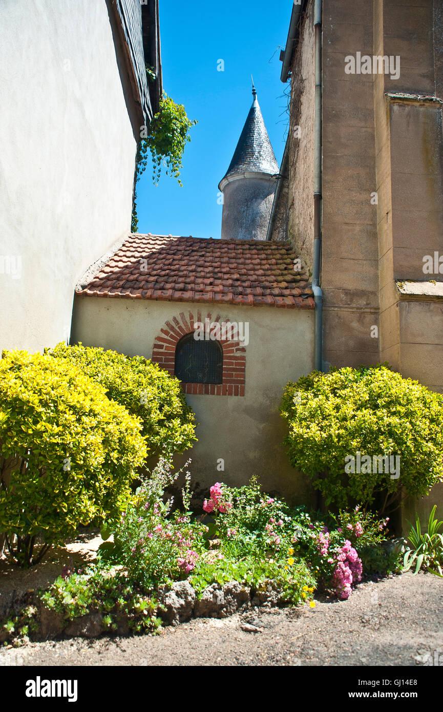 church at jaligny-sue-bresbre, france - Stock Image