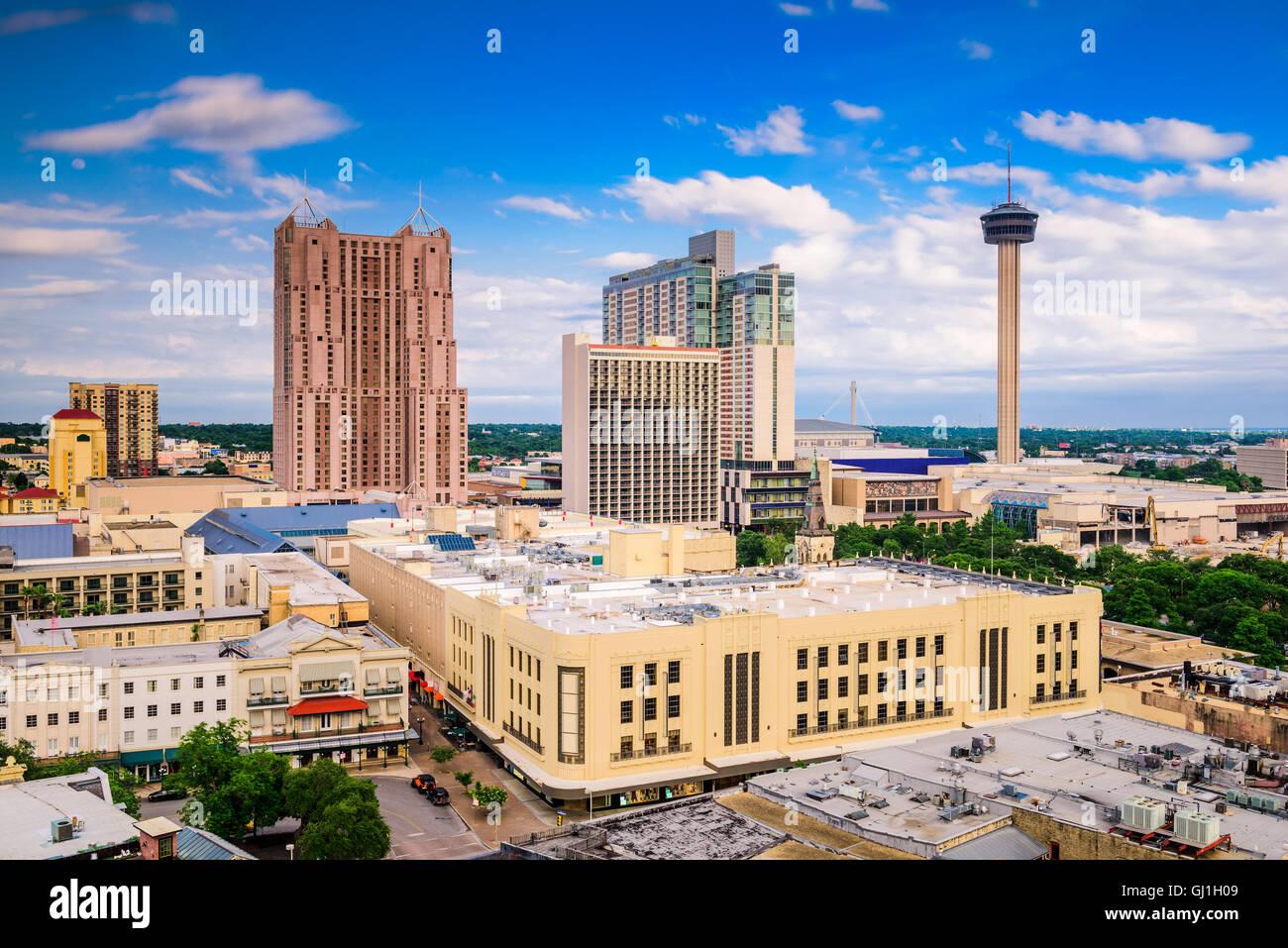 San Antonio, Texas, USA downtown skyline. - Stock Image