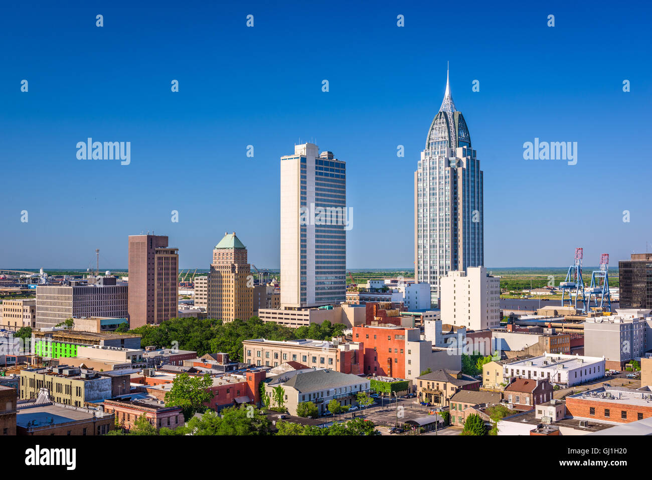 Mobile, Alabama, USA downtown skyline. - Stock Image