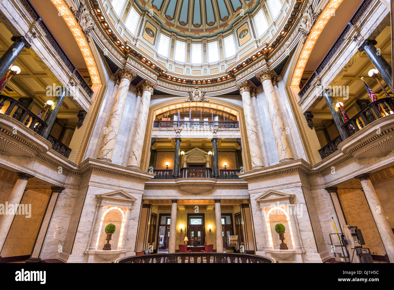 The main hall in the Mississippi State Capitol. Stock Photo