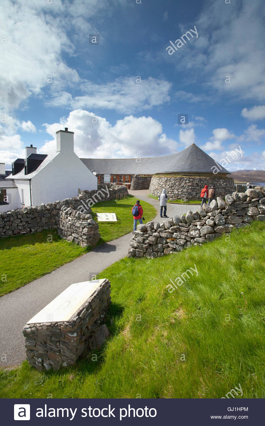 The visitor centre for the Calanais Standing Stones, Calanais, Isle of Lewis, Outer Hebrides, Outer Hebrides. Scotland Stock Photo