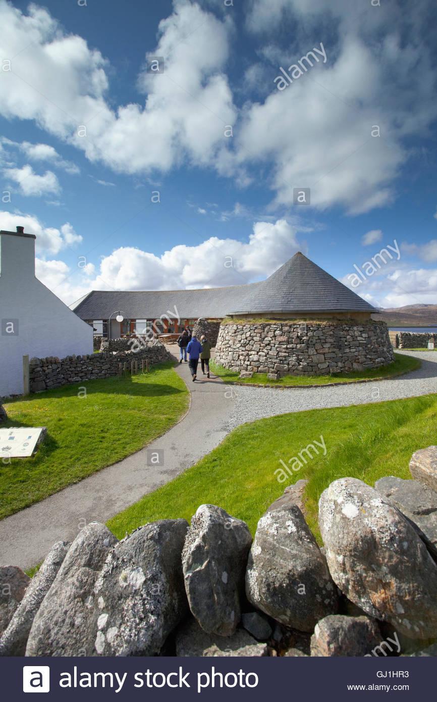 The visitor centre for the Calanais Standing Stones, Calanais, Isle of Lewis, Outer Hebrides, Outer Hebrides. Scotland Stock Photo