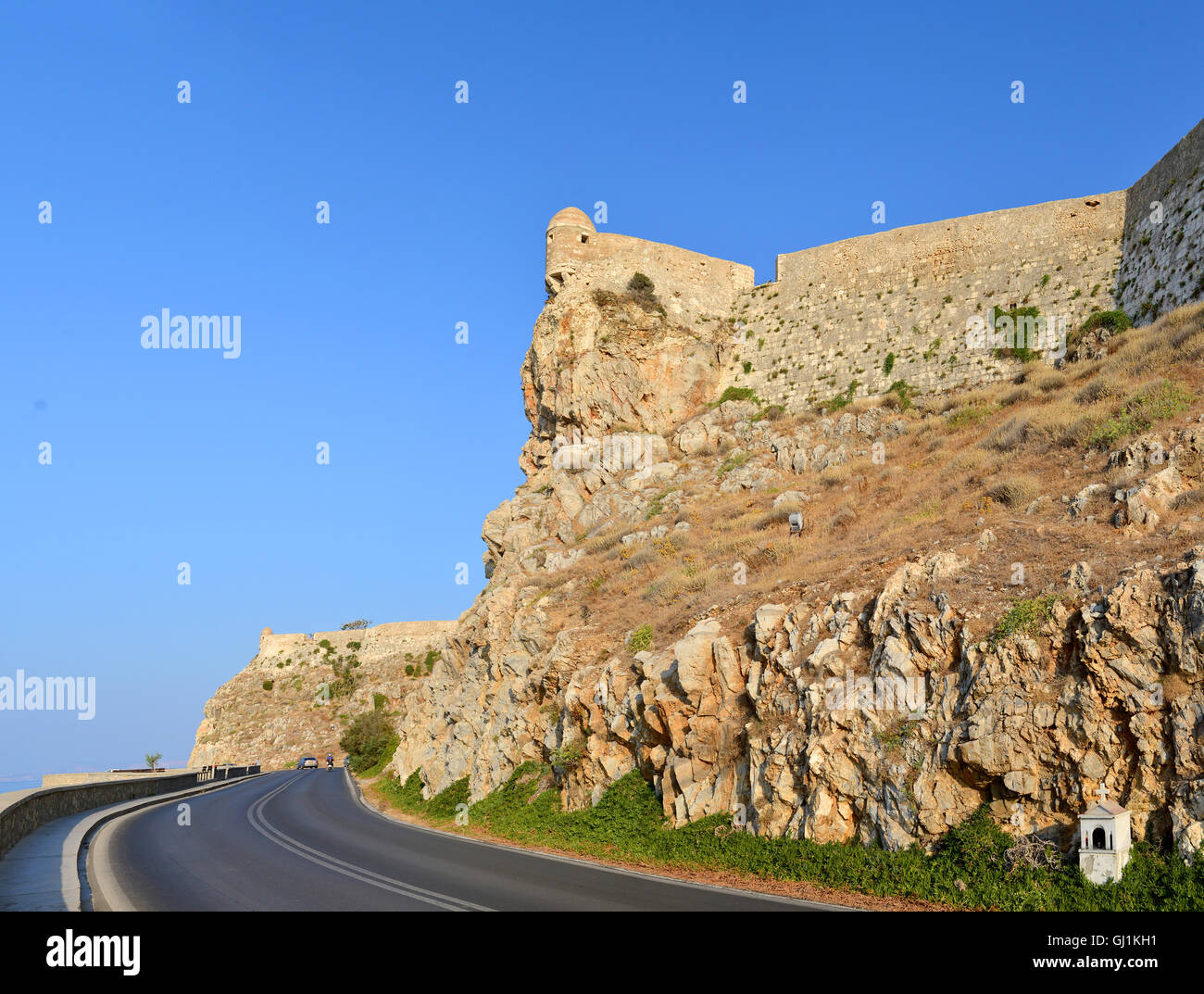 Rethymno city Greece Fortezza fortress landmark architecture Stock Photo
