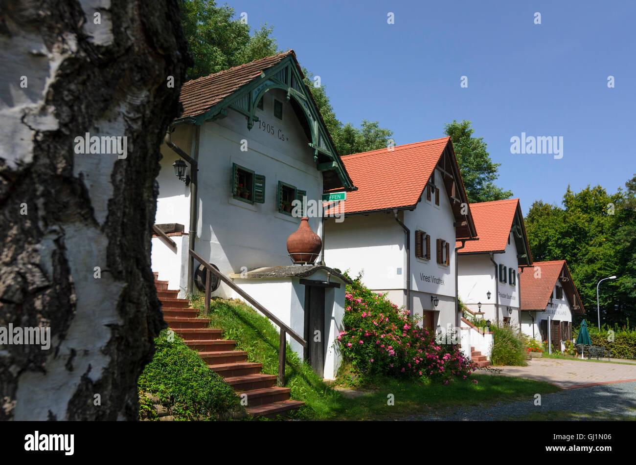 Moschendorf: Open Air Museum and Wine Museum, Austria, Burgenland, - Stock Image