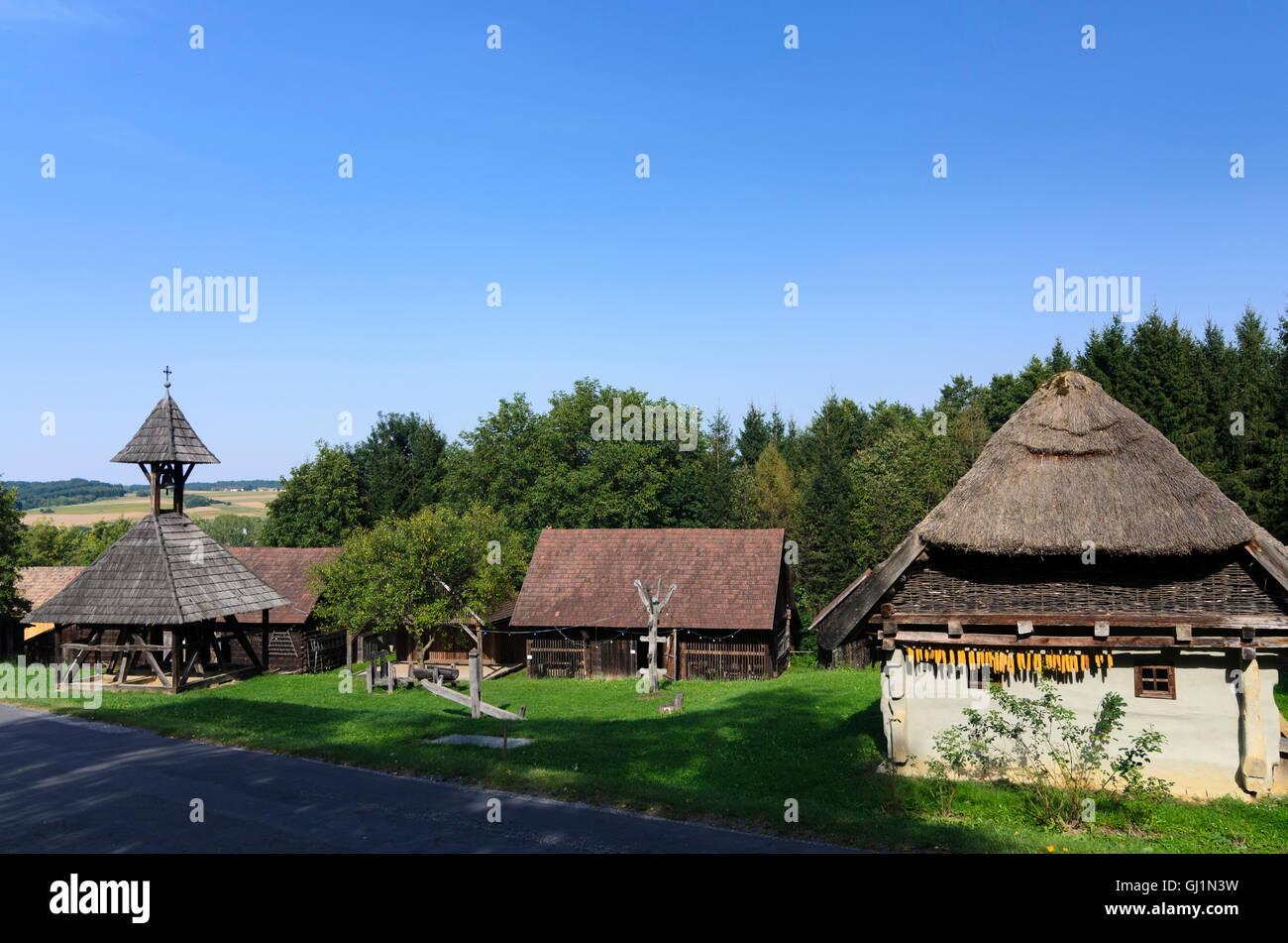 Gerersdorf-Sulz: open air museum Ensemble Gerersdorf, Austria, Burgenland, - Stock Image