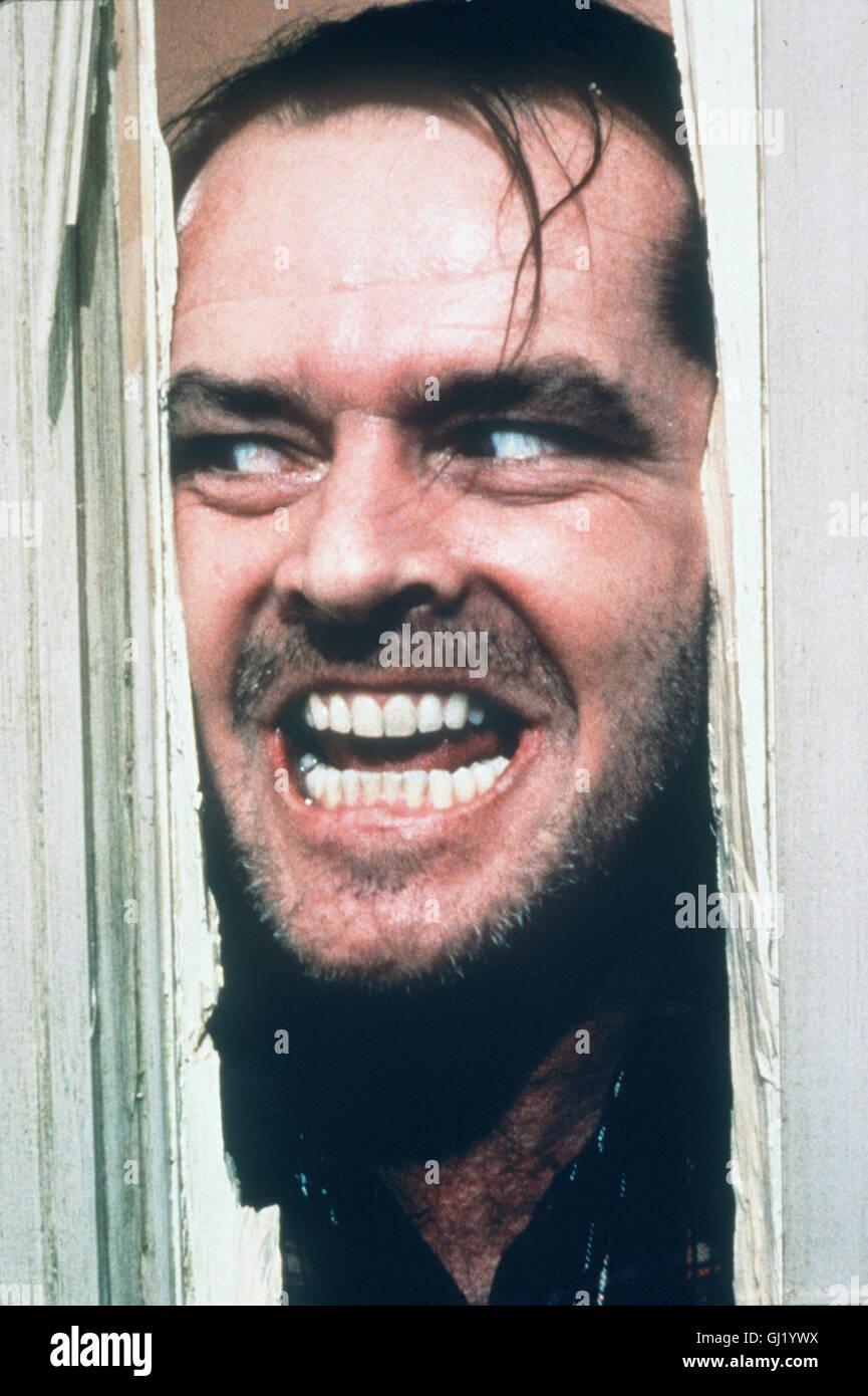 Jack Nicholson Shining jack nicholson the shining stock photos & jack nicholson the shining