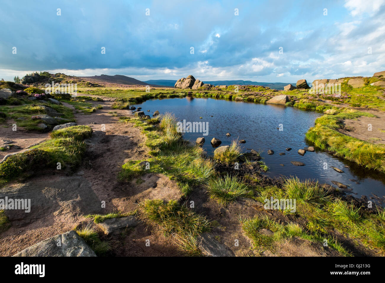 Doxeys Pool on the Roaches ridge in the Peak District National Park - Stock Image