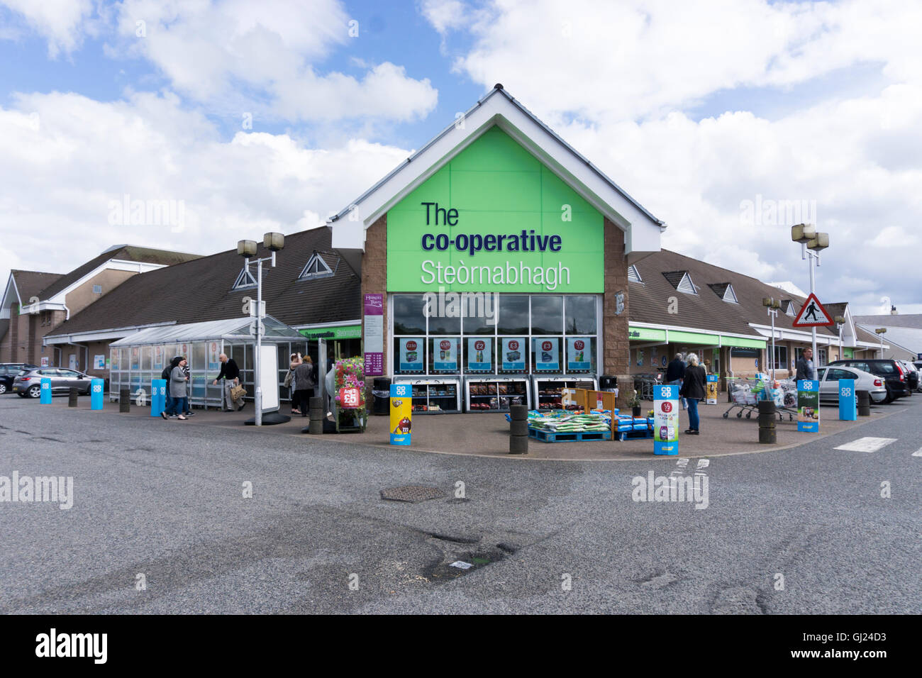 Co-Operative supermarket in Stornoway on the Isle of Lewis, Outer Hebrides. - Stock Image