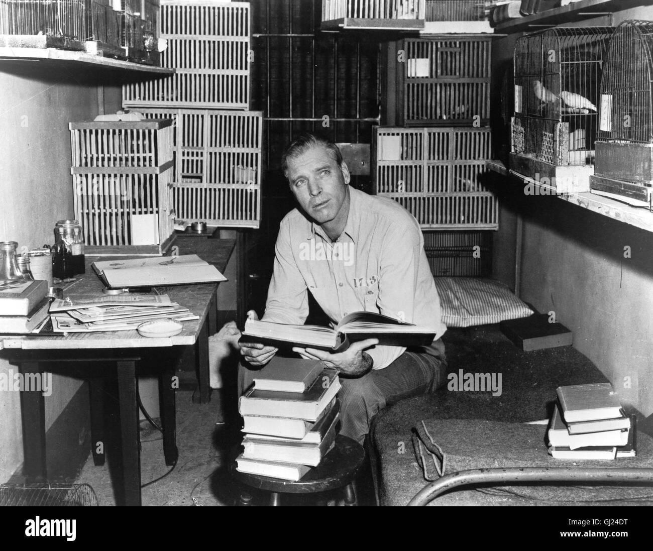 DER GEFANGENE VON ALCATRAZ Birdman of Alcatraö Der Film erzählt die Geschichte eines Doppelmörders, der sich während Stock Photo