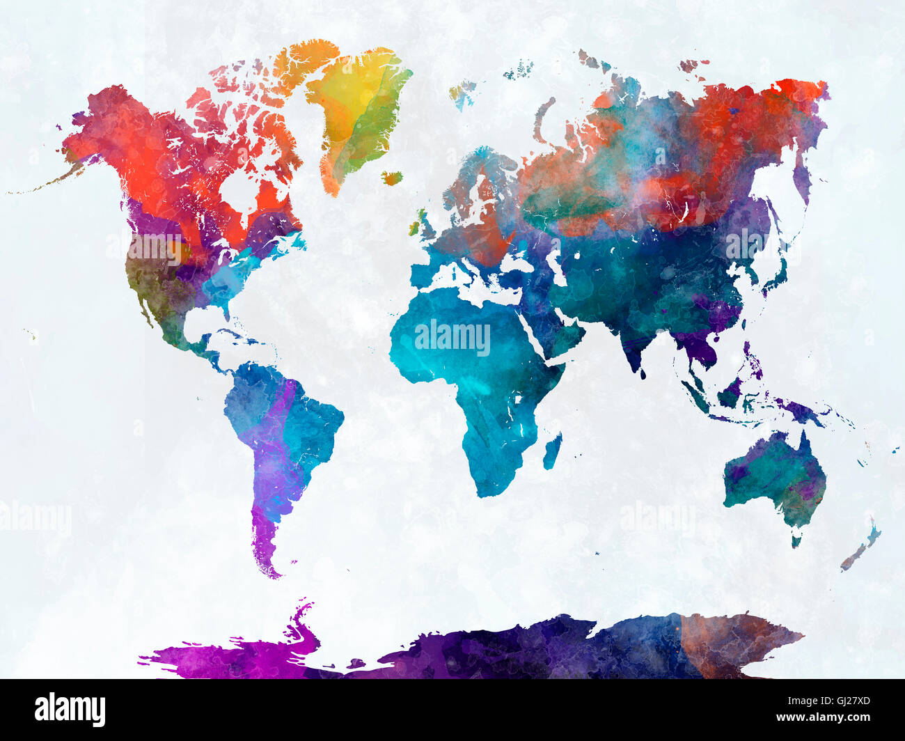 World map in watercolor painting abstract splatters stock photo world map in watercolor painting abstract splatters gumiabroncs Gallery