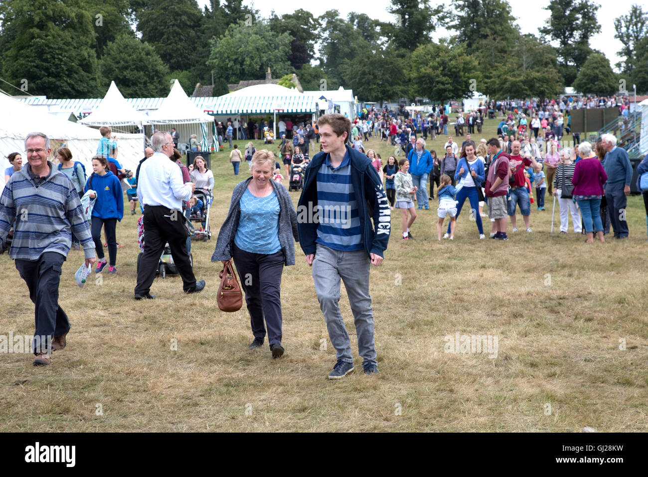 Visitors streaming in to Countryfile Live on first day Blenheim UK - Stock Image