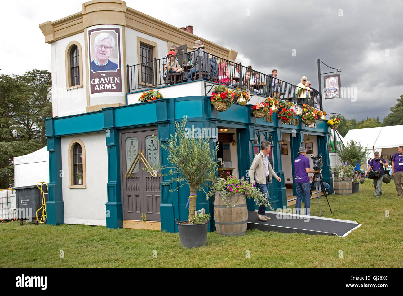 Visitors at Craven Arms pub Countryfile Live 2016 Blenheim Palace Woodstock UK - Stock Image