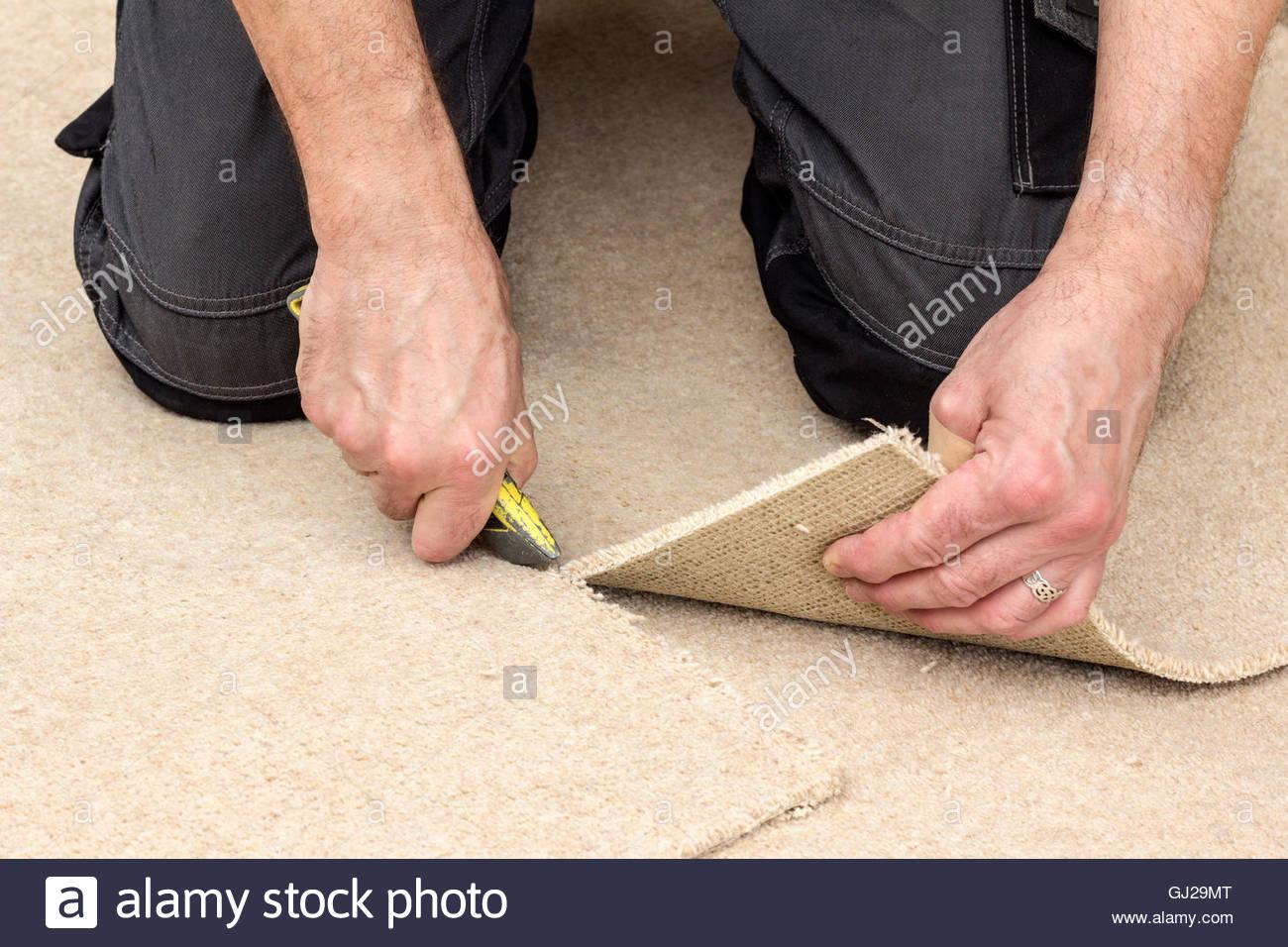 Carpet Fitting - Stock Image