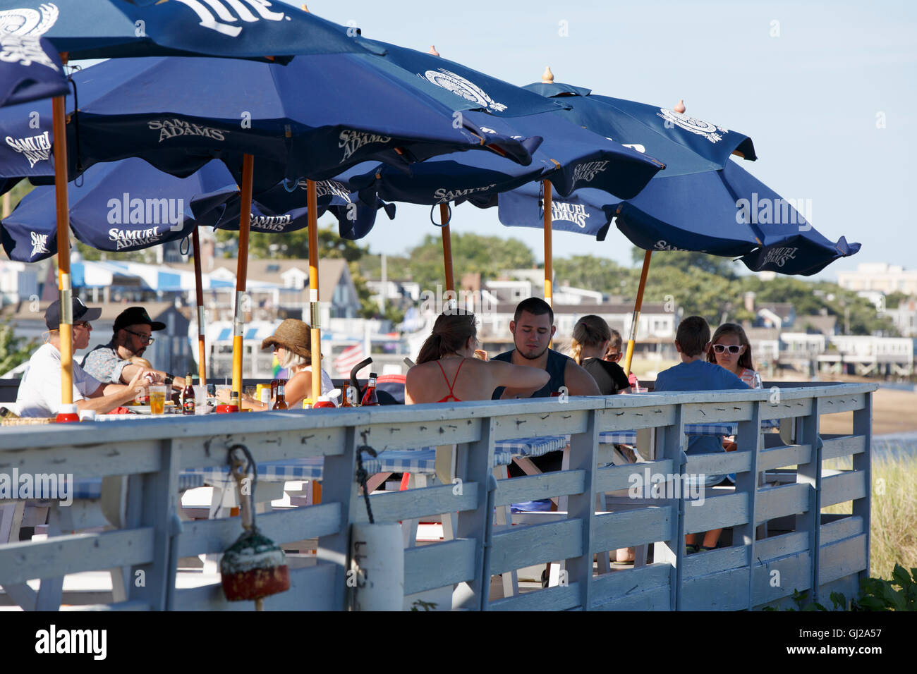 Outdoor dining, Provincetown, Massachusetts - Stock Image