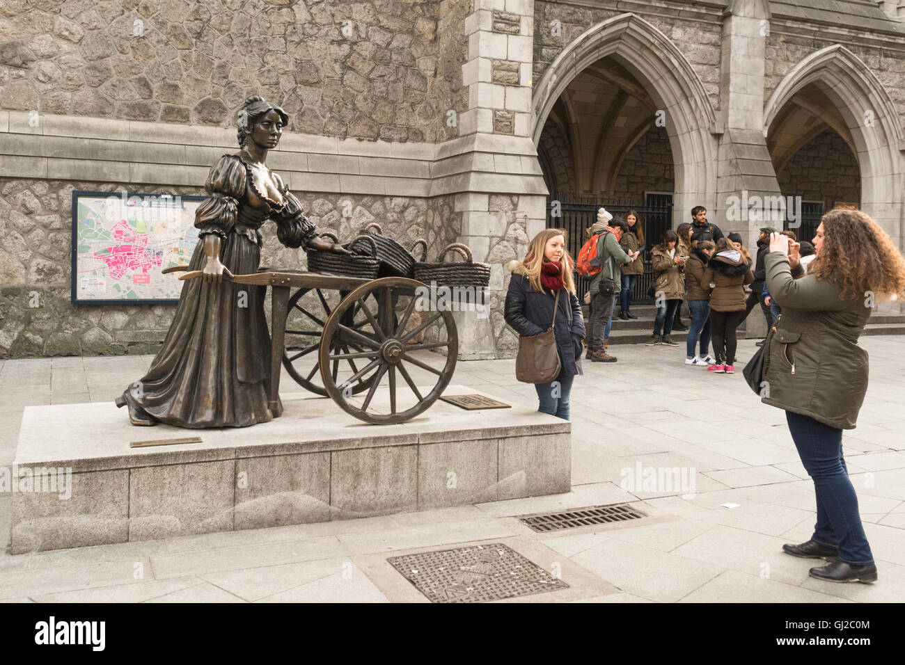 Molly Malone statue, Dublin, Ireland - Stock Image