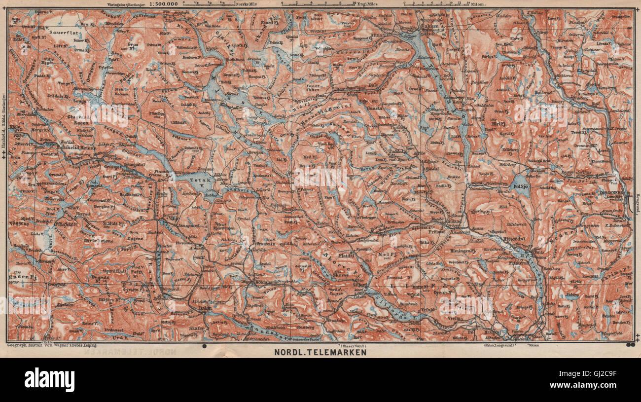 dalen kart NORTH TELEMARKEN topo map. Kongsberg Dalen Bakken. Norway kart  dalen kart